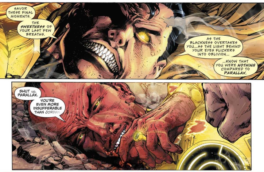 Superman [Parallax] and Thaal Sinestro