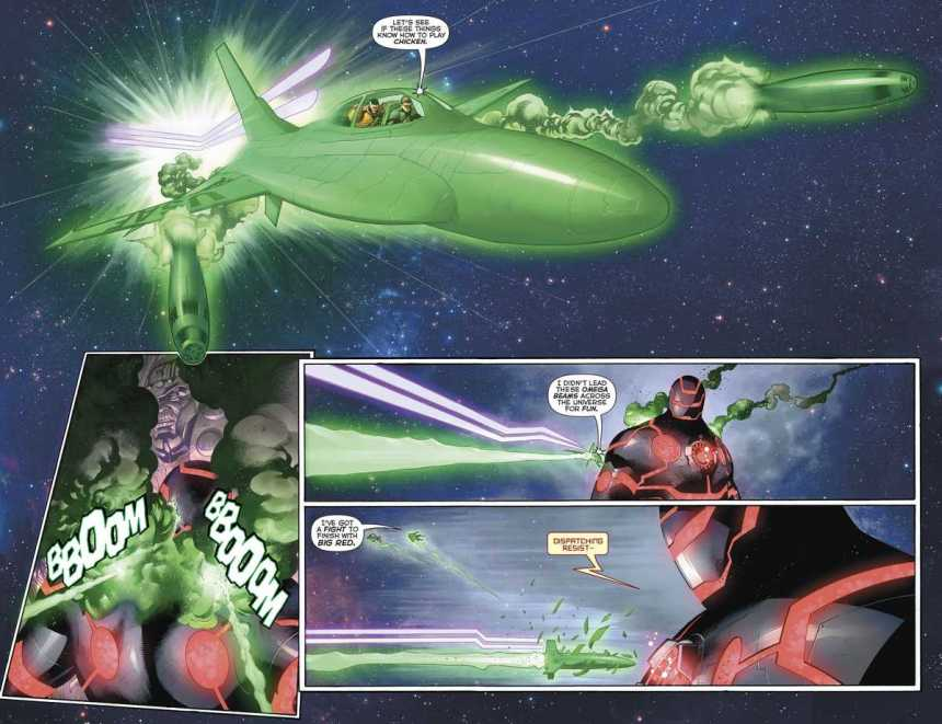 Hal Jordan, Highfather and a Machine Monstrosities