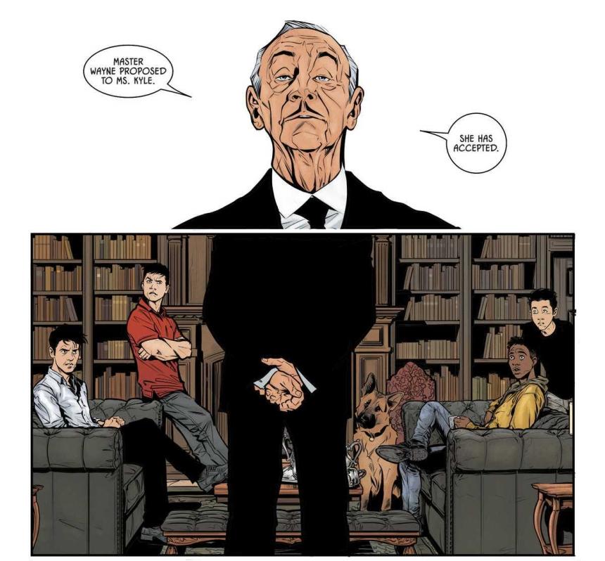 Alfred, Dick Grayson, Jayson Todd, Damian Wayne, Ace...