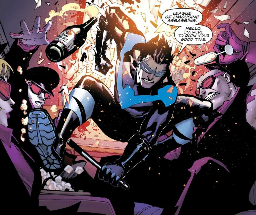 Nightwing taking out assassins